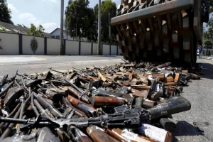 INTERVENÇÃO FEDERAL. Ação do Exército Brasileiro  destrói 8.549 armas no Rio, nesta quarta-feira