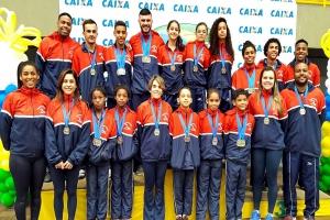 Piraí conquista 16 medalhas no Campeonato Brasileiro de Ginástica de Trampolim